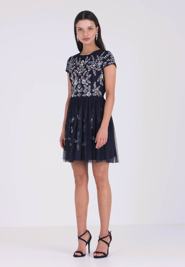 Lace & Beads Petite - NINA DRESS - Cocktailklänning - navy - 1