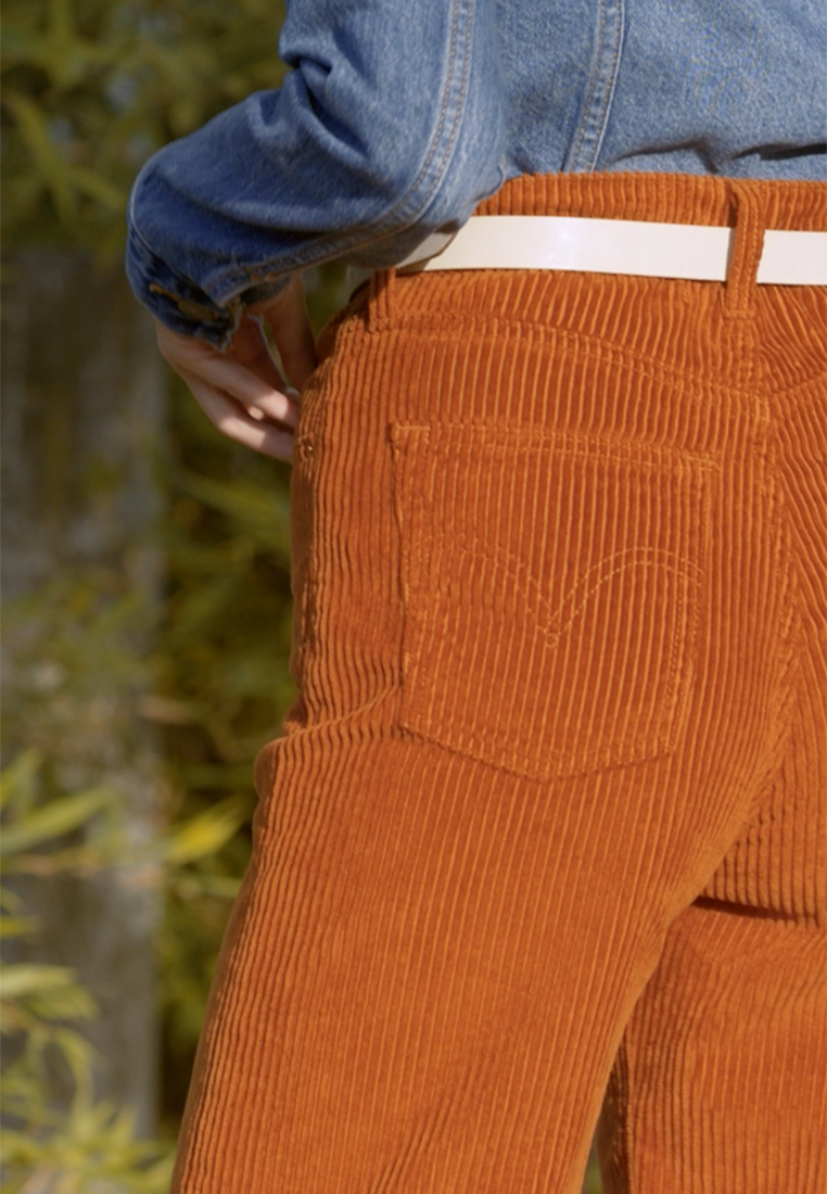 Levi's® - RIBCAGE CORD WIDE LEG - Flared Jeans - caramel - 1