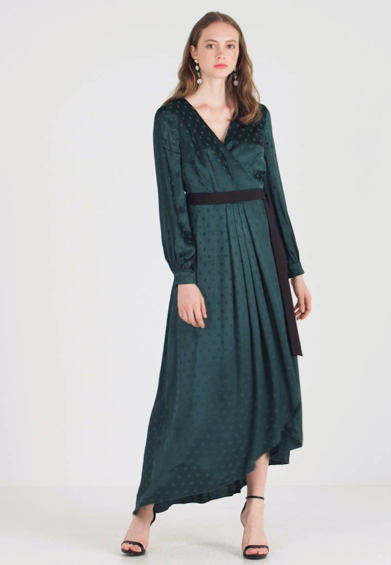 Little Mistress - TASMIN POLKA DOT ASYMMETRIC WRAP DRESS - Juhlamekko - green - 1