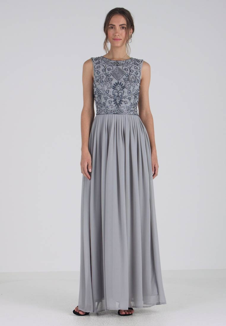 Lace & Beads - PAULA MAXI - Iltapuku - light grey - 1