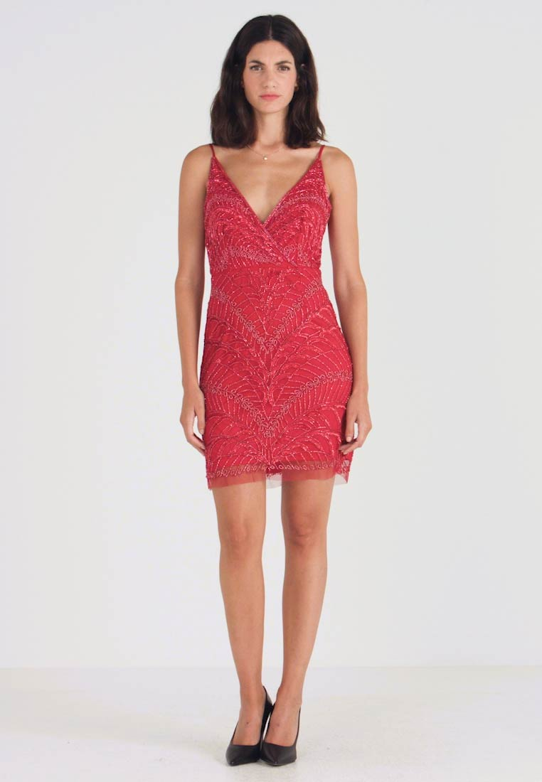 Lace & Beads - MAY DRESS - Robe de soirée - red - 1
