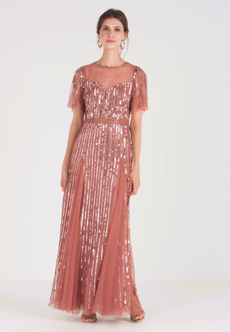 Lace & Beads - MEGHAN MAXI - Ballkjole - dusty pink - 1
