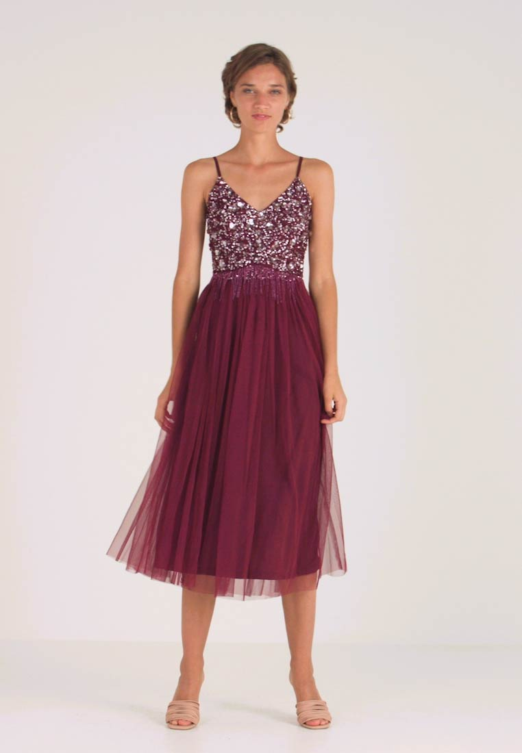 RIRI MIDI DRESS - Cocktailkleid/festliches Kleid - burgundy