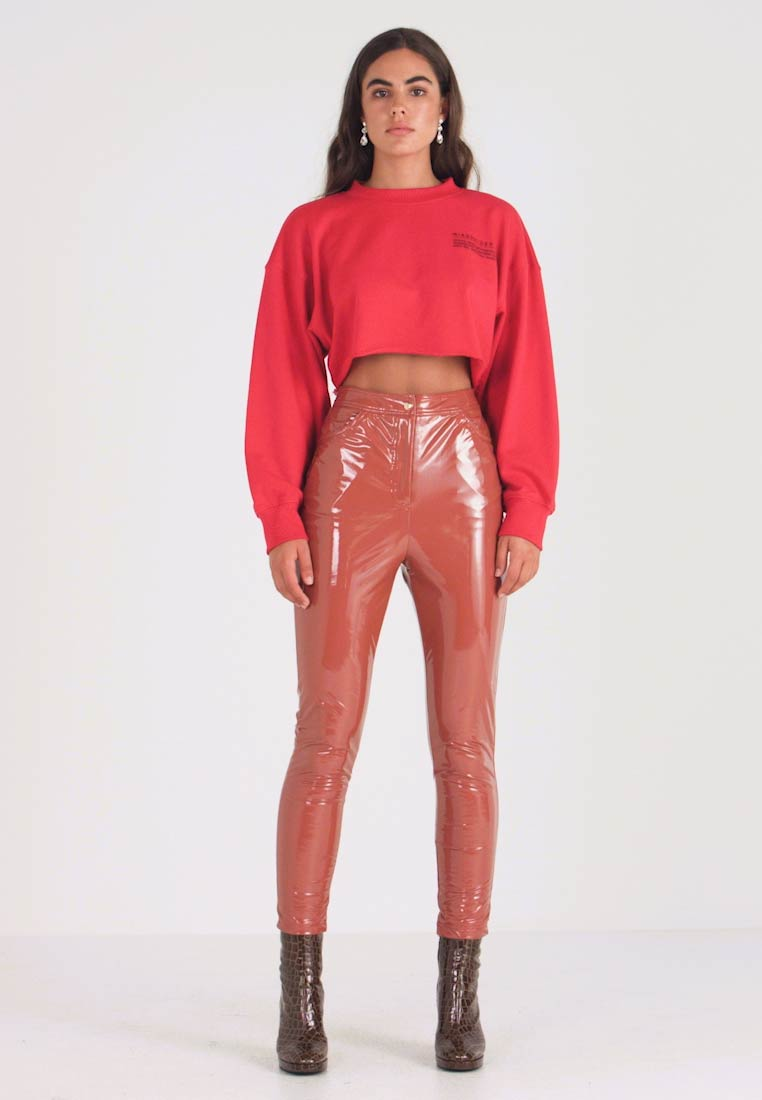 Missguided - HIGH WAISTED TROUSERS - Bukse - brown - 1