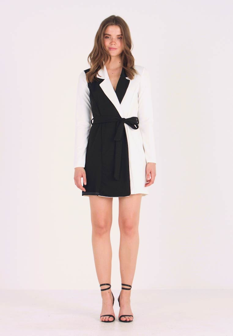 Missguided - LONG SLEEVE DRESS - Jerseykjole - white - 1