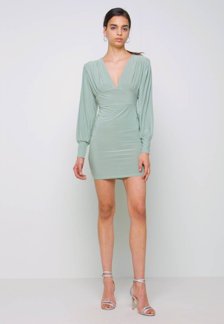 Missguided - SLINKY PLUNGE MINI BODYCON DRESS - Robe fourreau - mint - 1