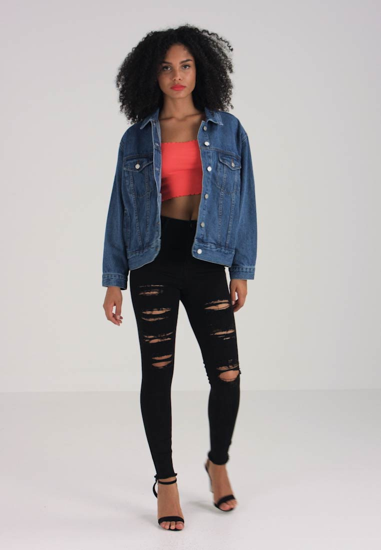 Missguided - OVERSIZED  - Denim jacket - vintage - 1
