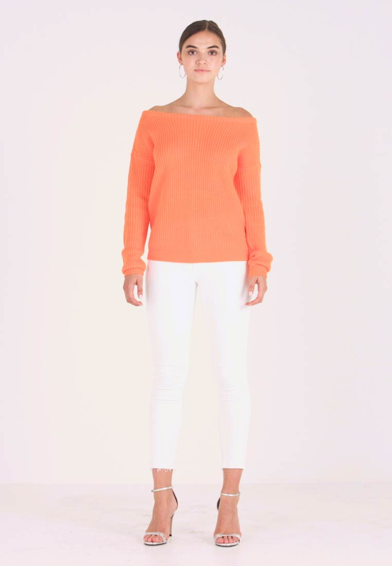 Missguided - OPHELITA OFF SHOULDER JUMPER - Jersey de punto - orange - 1