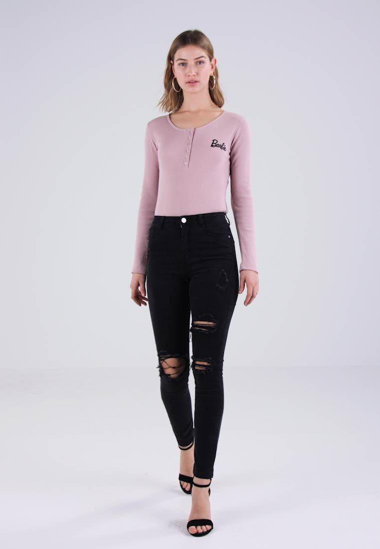 Missguided - SINNER HIGHWAISTED AUTHENTIC RIPPED  - Jeans Skinny - dark grey - 1