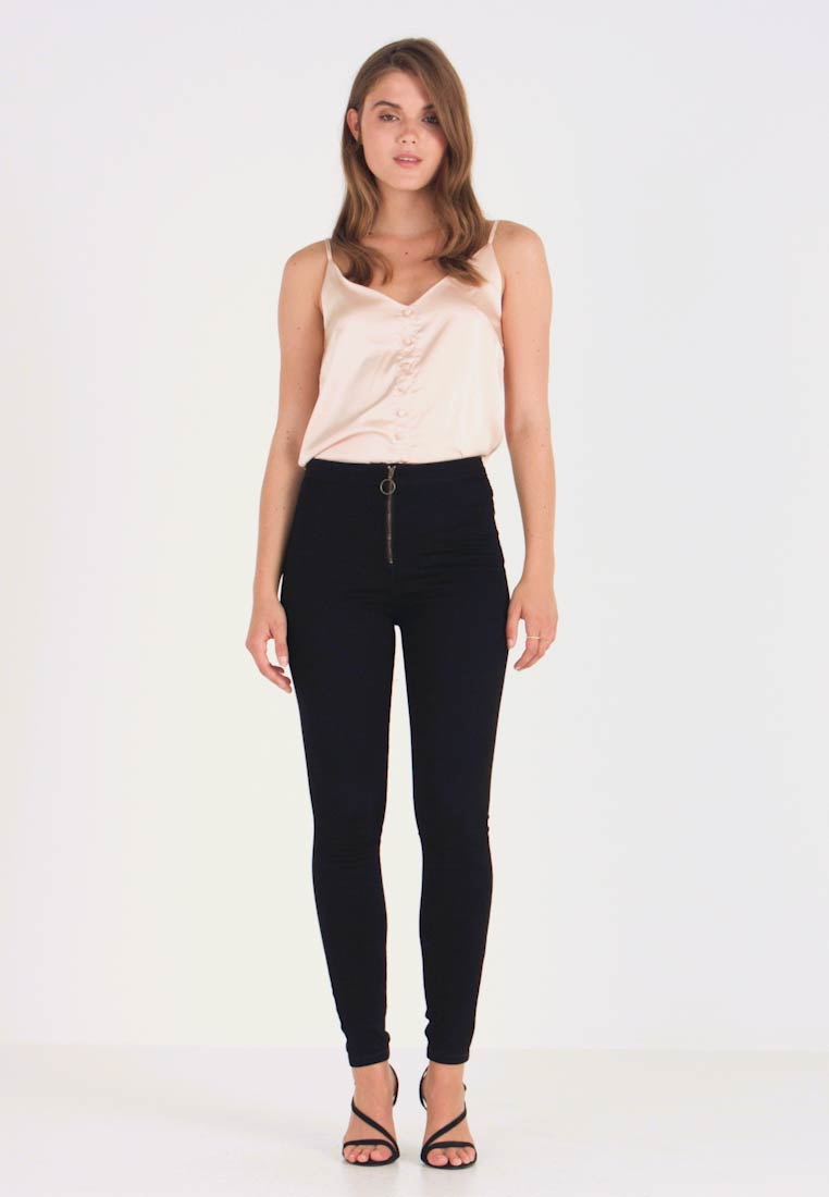 Missguided - RING ZIP OUTLAW - Jegging - black - 1