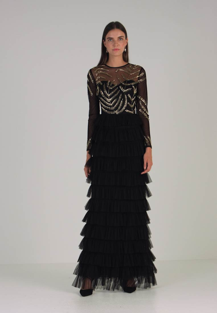 Maya Deluxe - EMBELLISHED MAXI DRESS WITH TIERED SKIRT - Occasion wear - black - 1