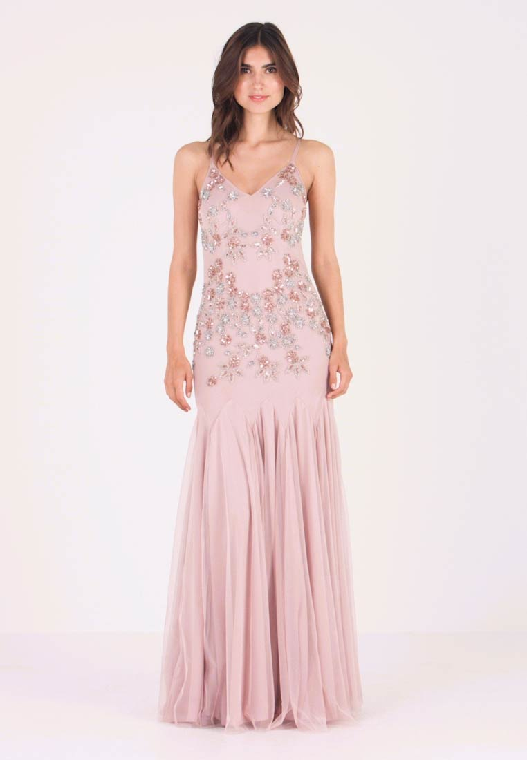 Maya Deluxe - EMBELLISHED CAMIMAXI DRESS WITH FISHTAIL - Robe de cocktail - frosted pink - 1