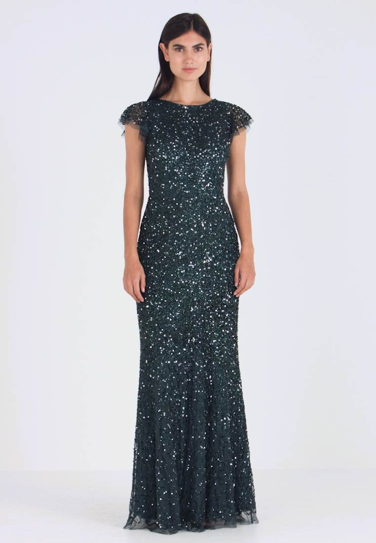 Maya Deluxe - ALL OVER EMBELLISHED DRESS - Occasion wear - emerald - 1
