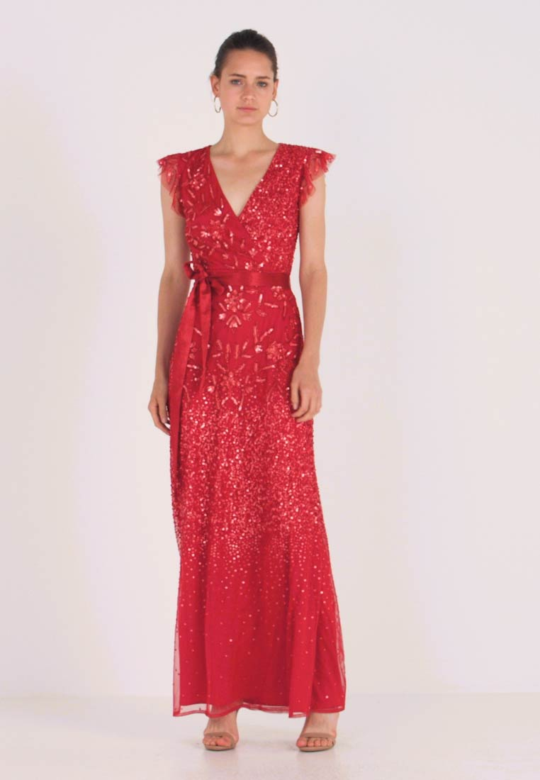 Maya Deluxe - EMBELLISHED MAXI DRESS WITH SASH BOW TIE - Ballkjole - red - 1