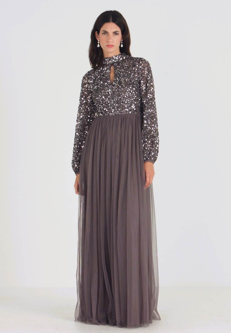 Maya Deluxe - BISHOP SLEEVE DELICATE SEQUIN  WITH KEYHOLE - Occasion wear - charcoal - 1