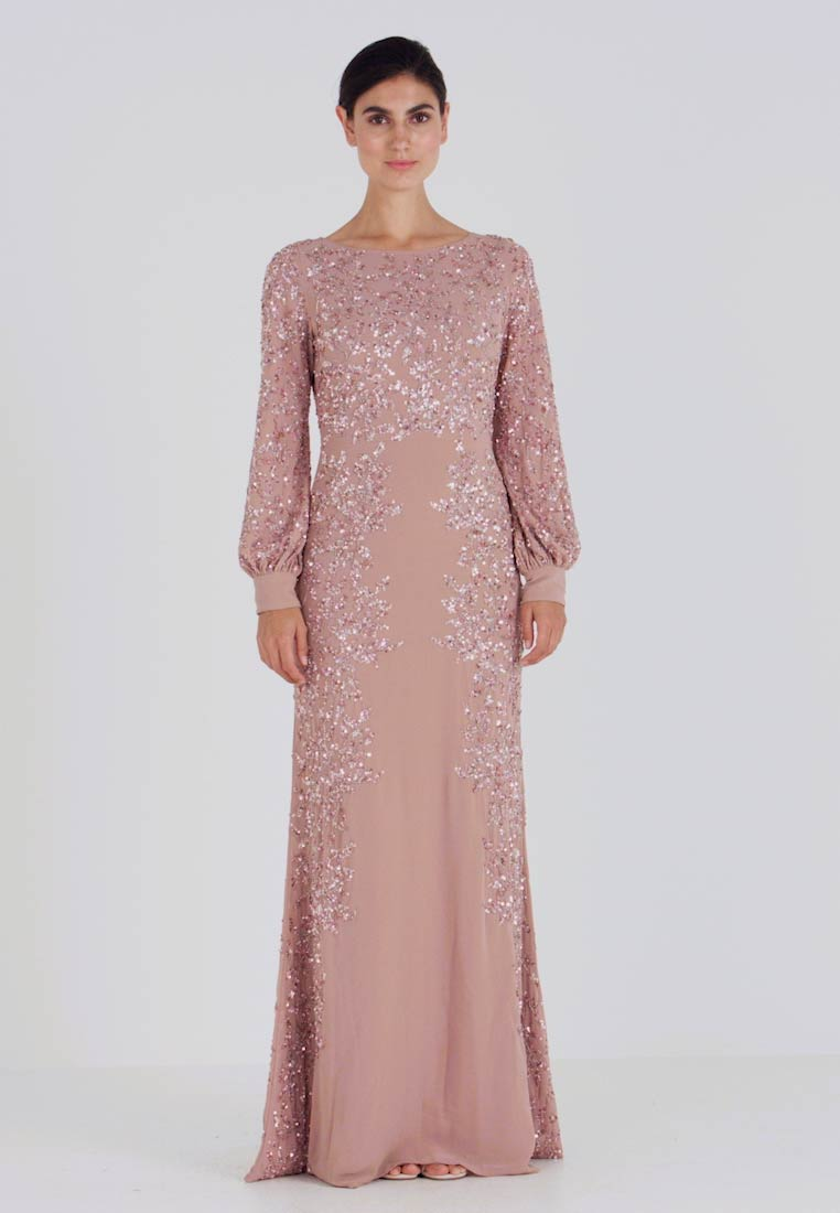 Maya Deluxe - FLORAL EMBELLISHED MAXI DRESS WITH BISHOP SLEEVES - Festklänning - pale mauve - 1