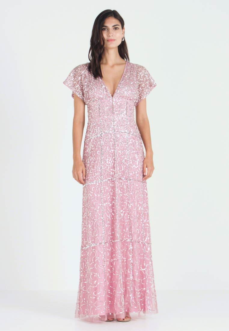 Maya Deluxe - EMBELLISHED V NECK MAXI DRESS - Abito da sera - pink - 1