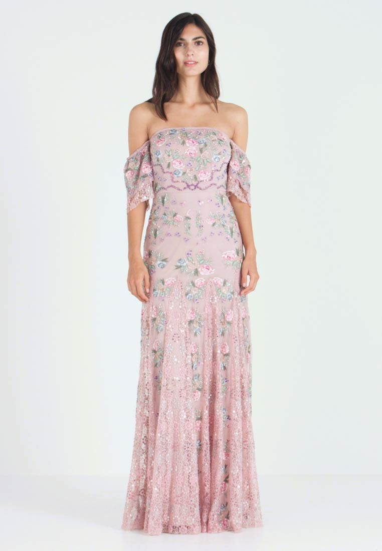 Maya Deluxe - ALL OVER MAXI DRESS WITH DETAILING - Iltapuku - soft pink - 1