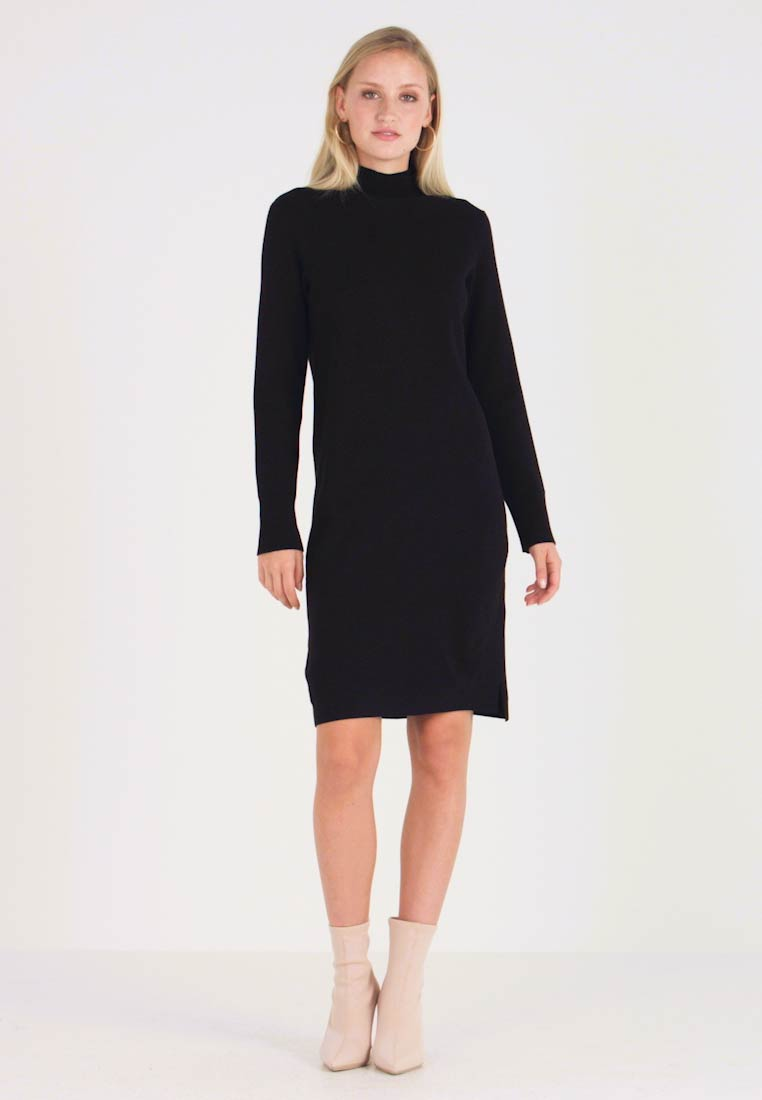Marc O'Polo PURE - DRESS STRAIGHT FIT - Jumper dress - pure black - 1