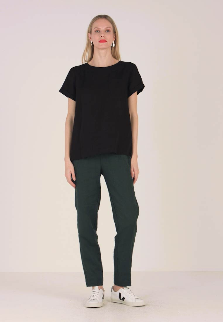 Marc O'Polo PURE - BLOUSE STYLE ROUND NECK - Blouse - black - 1