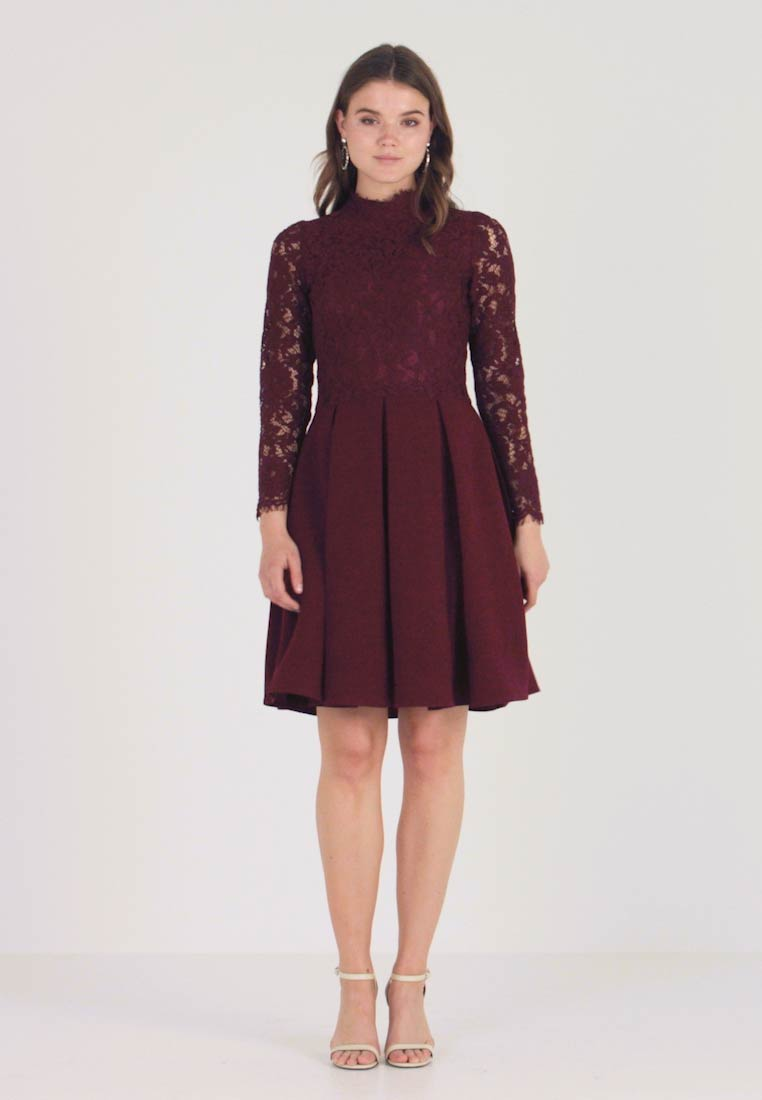 Molly Bracken - LONG SLEEVES - Juhlamekko - dark red - 1
