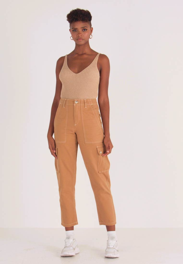 Miss Selfridge - NEW CARGO POCKET TROUSER - Bukser - sand - 1
