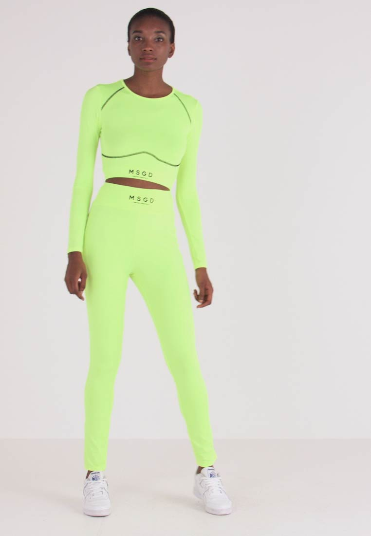 Missguided Tall - WAISTBAND - Leggings - lime - 1