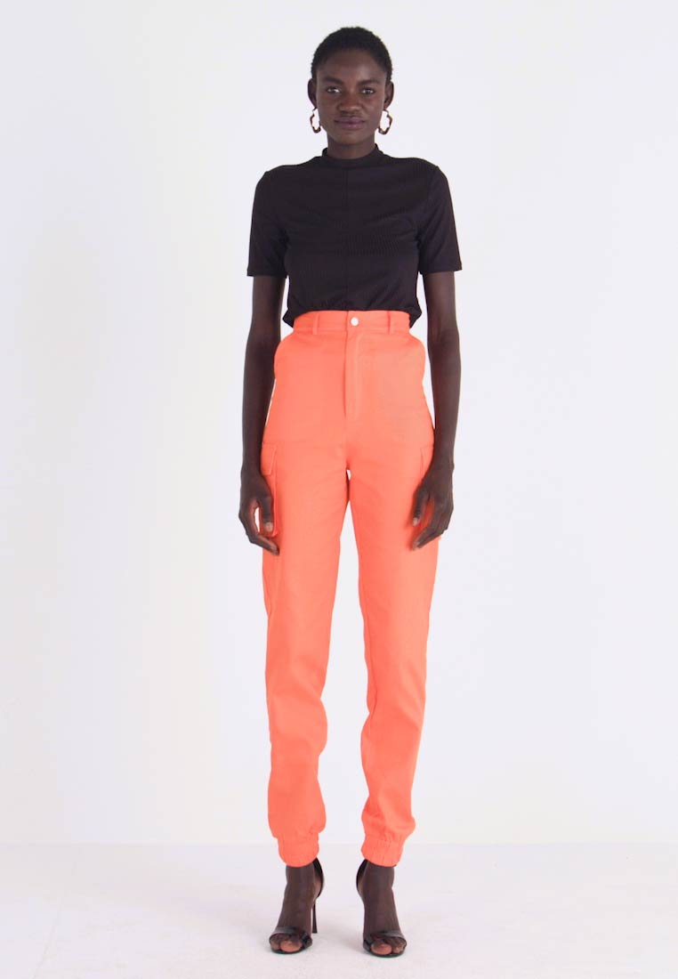 Missguided Tall - PLAIN TROUSER - Trousers - orange - 1