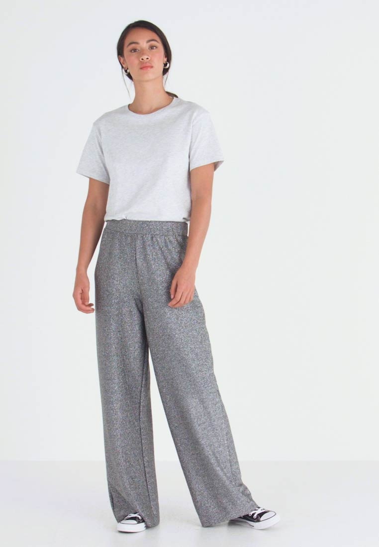 Monki - DONNA PARTY TROUSERS - Kalhoty - silver - 1