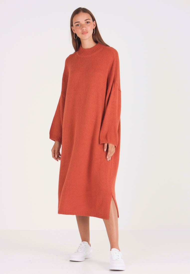 Monki - MALVA DRESS - Strikket kjole - rust - 1