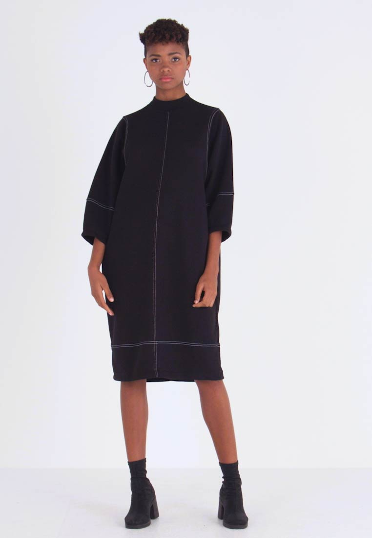 Monki - KARIN DRESS - Jersey dress - black/white - 1