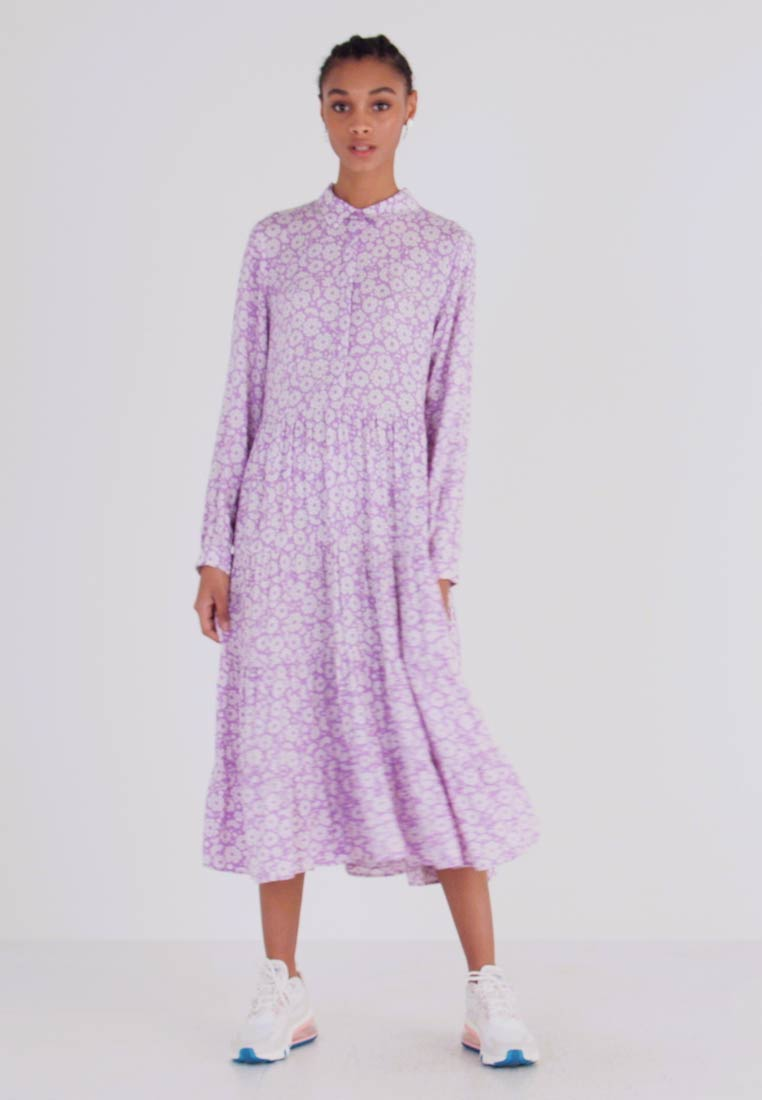 Monki - FIONA DRESS - Vestido informal - lilac/white - 1