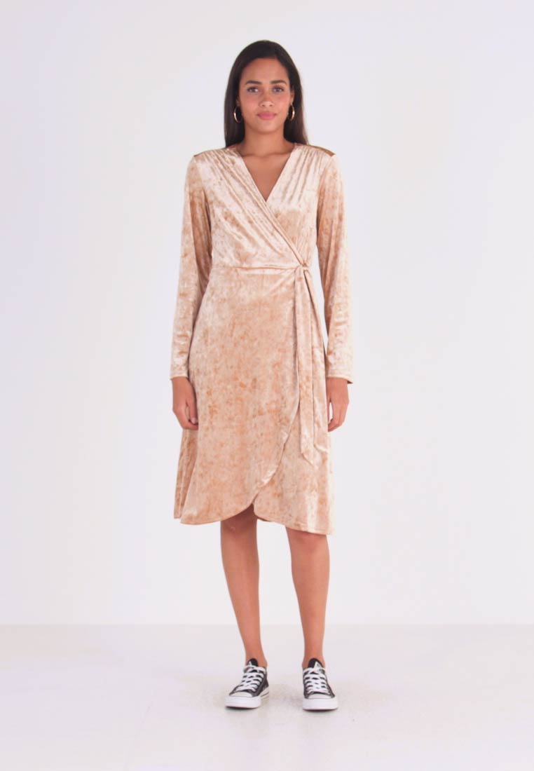 Monki - TUVA DRESS - Day dress - beige - 1