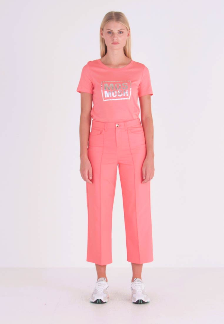 Mos Mosh - NIGHT PANT SUSTAINABLE - Trousers - sugar coral - 1