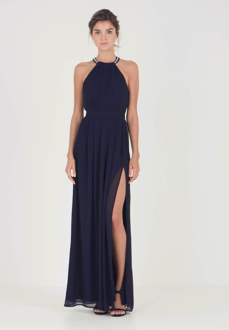 Nly by Nelly - HALTERNECK BEADED GOWN - Ballkjole - navy - 1