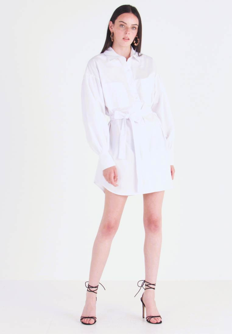 Nly by Nelly - FEMME OVERSIZE SHIRT DRESS - Shirt dress - white - 1