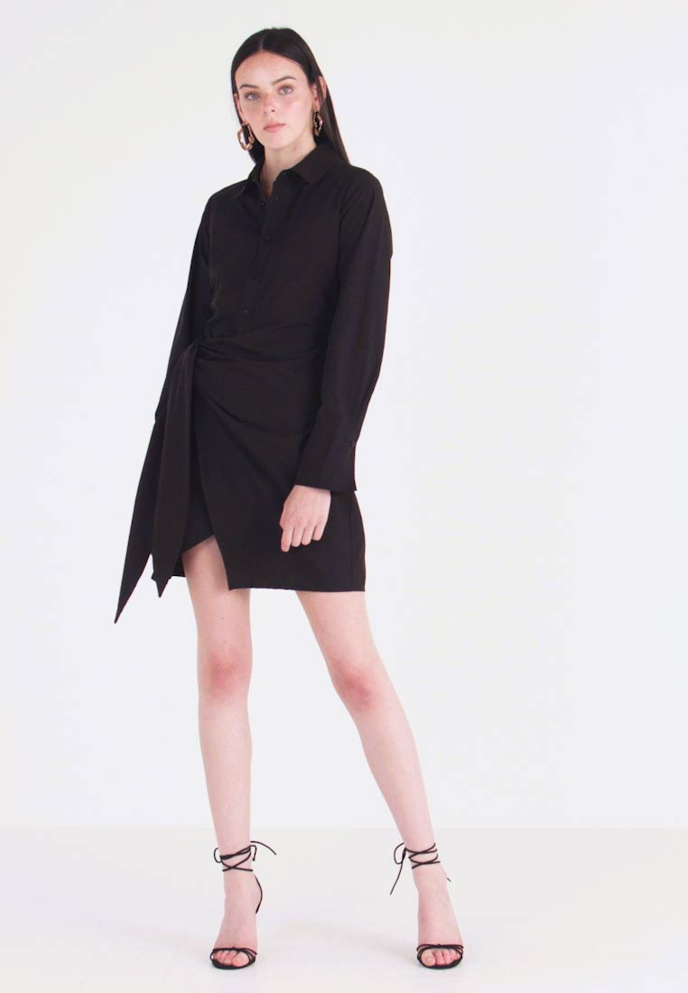 Nly by Nelly - WRAPPED DRESS - Paitamekko - black - 1