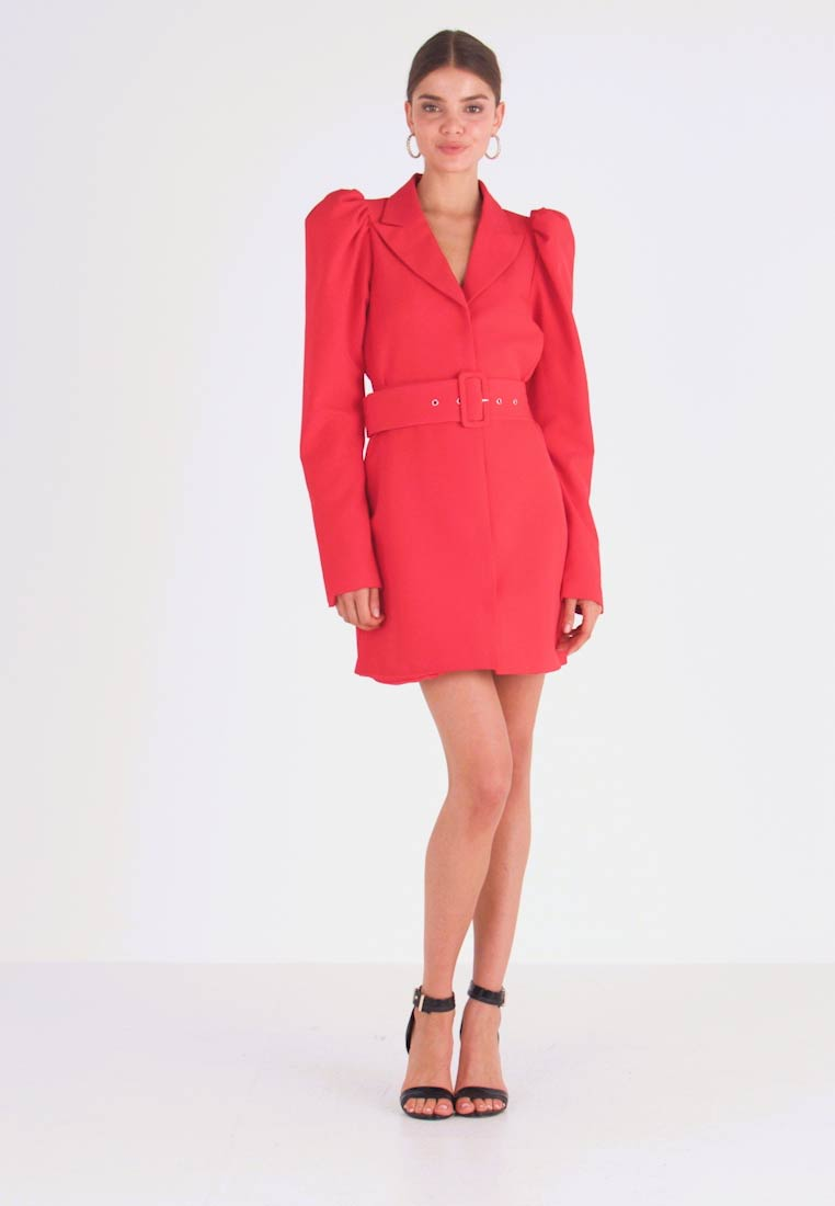 Nly by Nelly - VOLUME SLEEVE SUIT DRESS - Kjole - red - 1