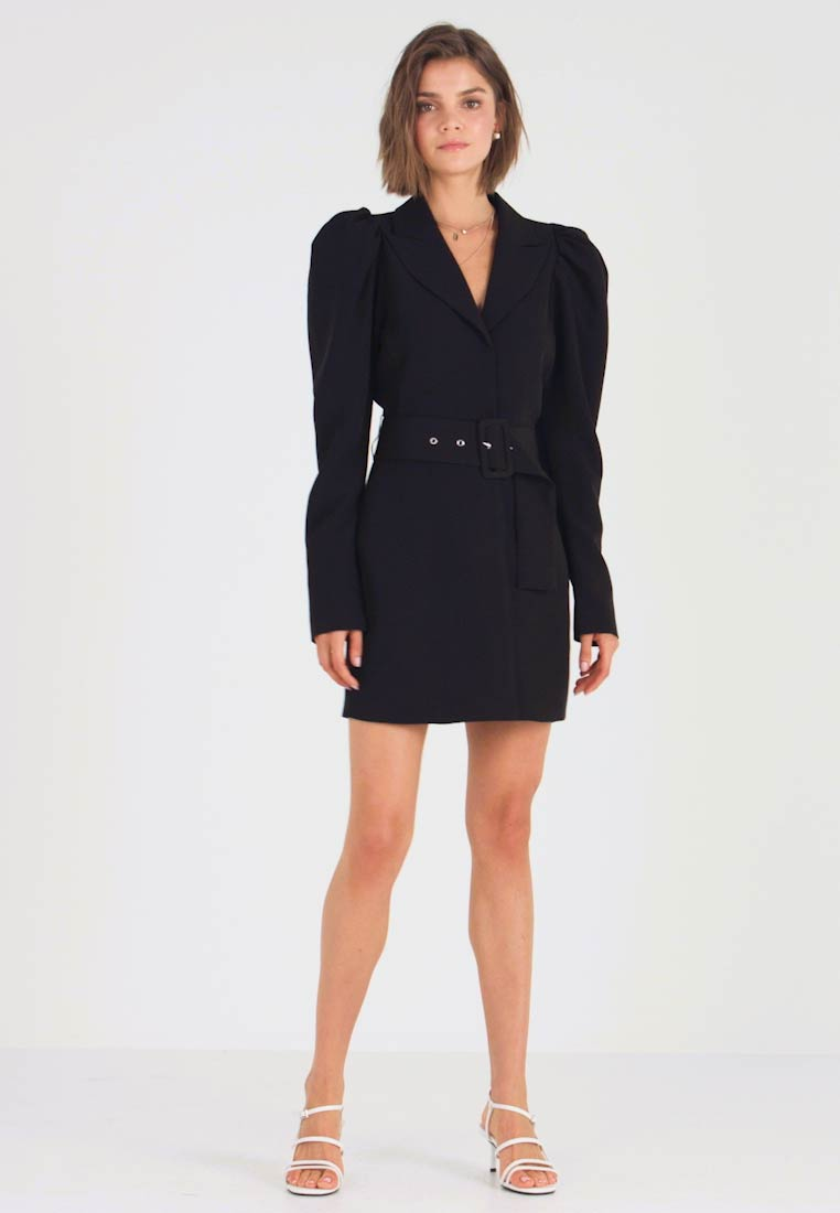 Nly by Nelly - VOLUME SLEEVE SUIT DRESS - Kjole - black - 1