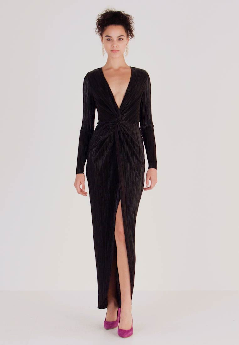 Nly by Nelly - TWISTED SHINY GOWN - Robe de cocktail - black - 1