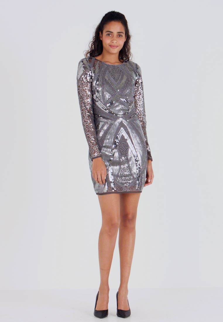 Nly by Nelly - LOVE THAT DRESS - Vestito elegante - silver - 1