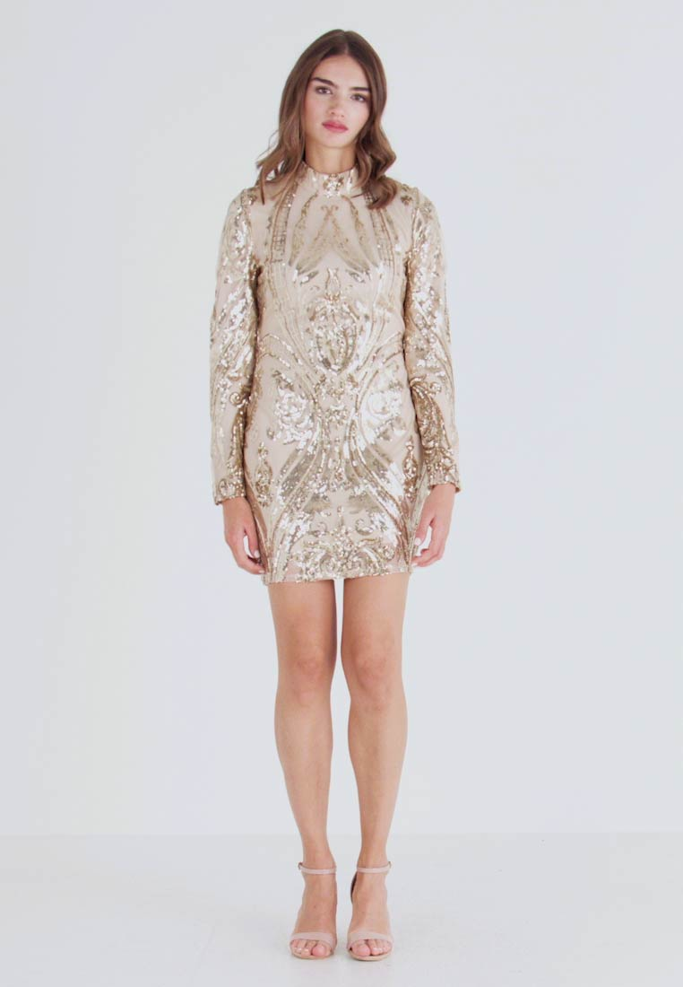 Nly by Nelly - SEQUIN DRESS - Cocktailkjole - champagne - 1