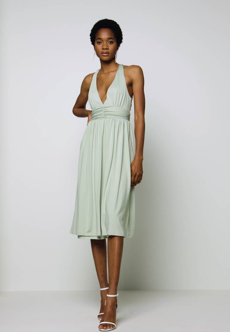 CROSS BACK DRAPY DRESS - Cocktailkleid/festliches Kleid - mint