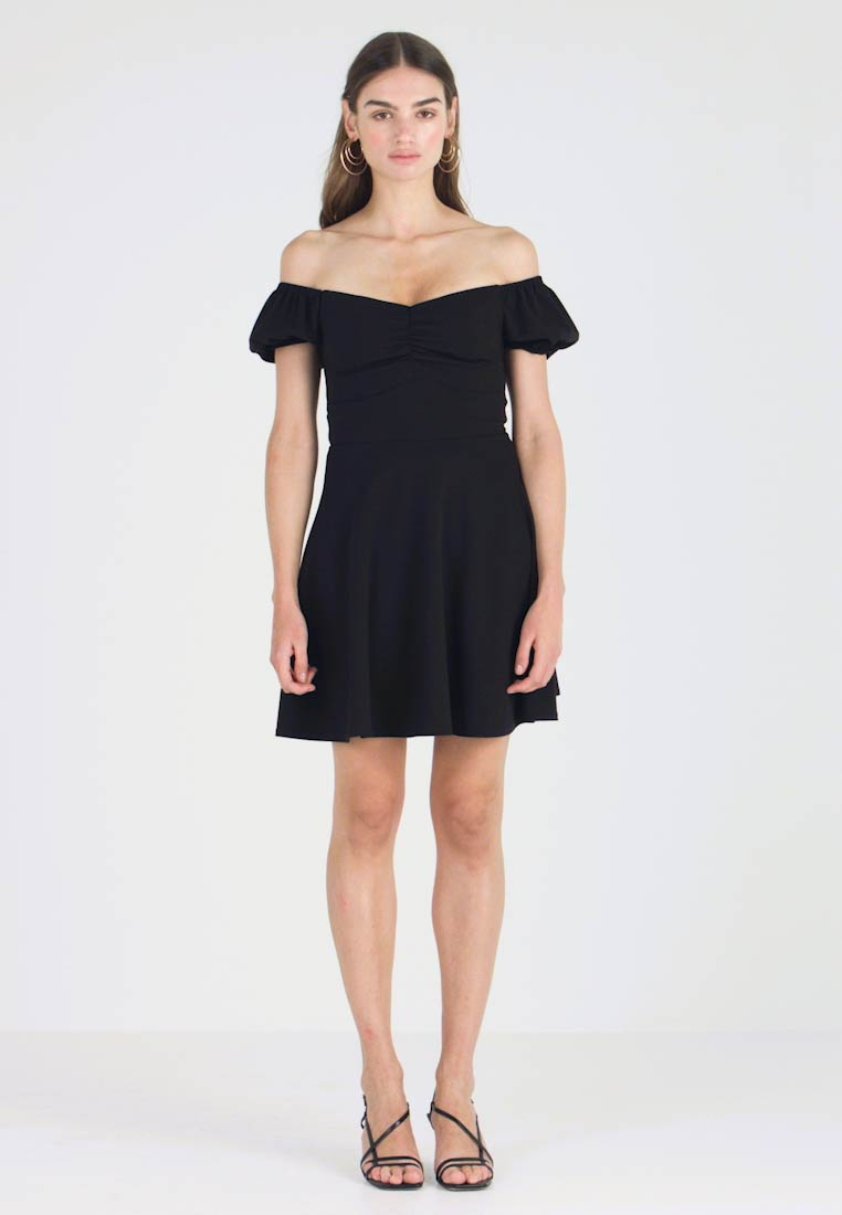 New Look - GO RUCHED FRONT MILKMAID - Robe en jersey - black - 1