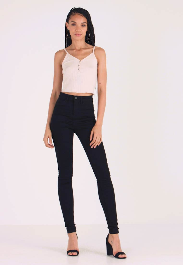 Noisy May - Jeans Skinny Fit - black denim - 1