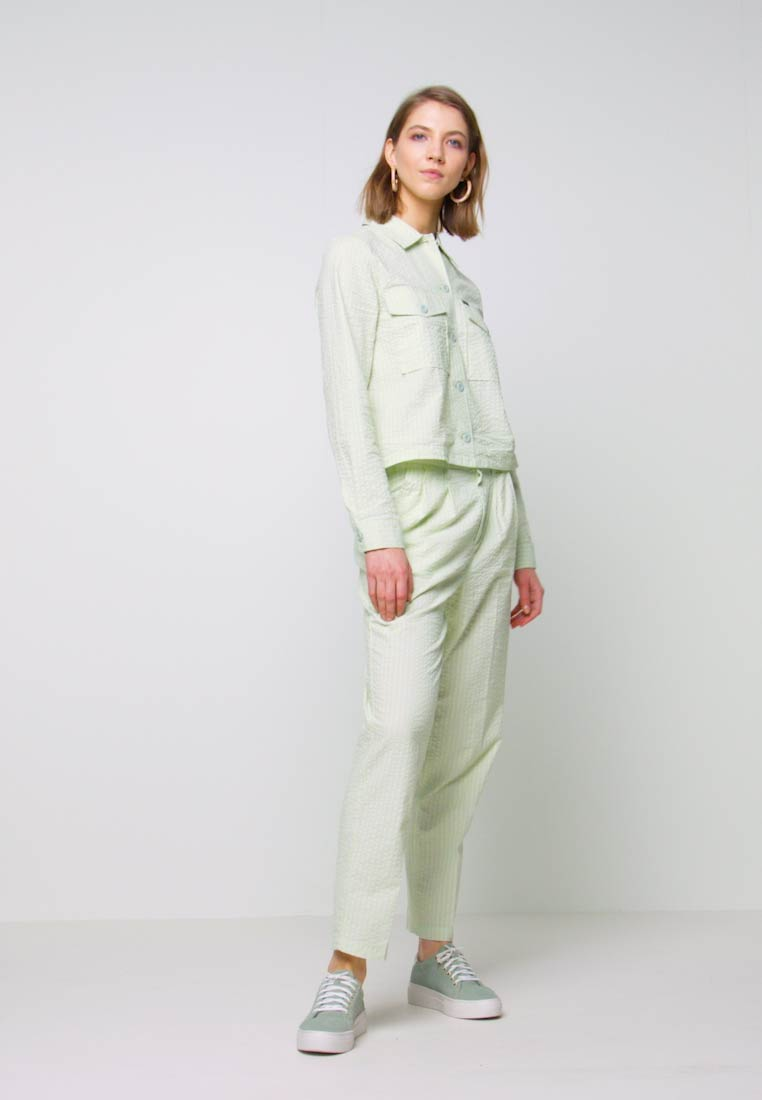Obey Clothing - HELM PLEATED PANT - Trousers - seafoam - 1