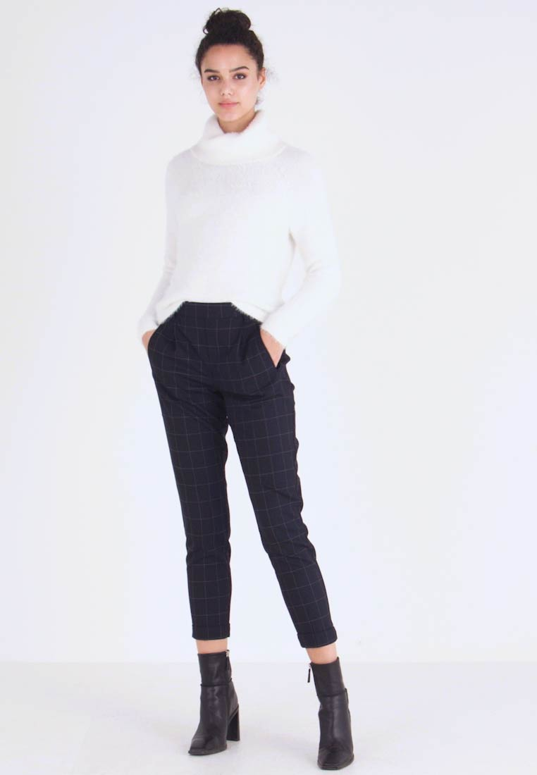 ONLY - ONLABBIE CHECK PANT - Broek - night sky - 1