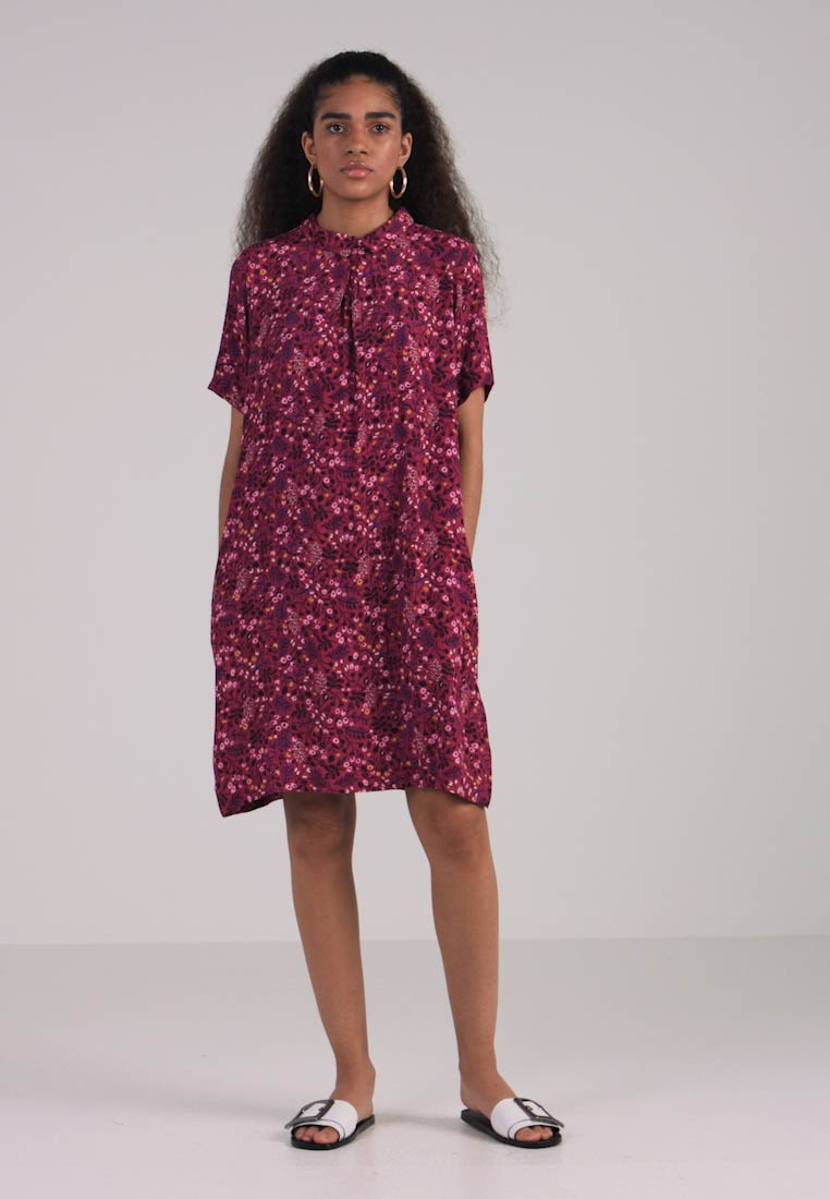 ONLY - ONLFIRENZE SHIRTDRESS  - Blusenkleid - red plum - 1