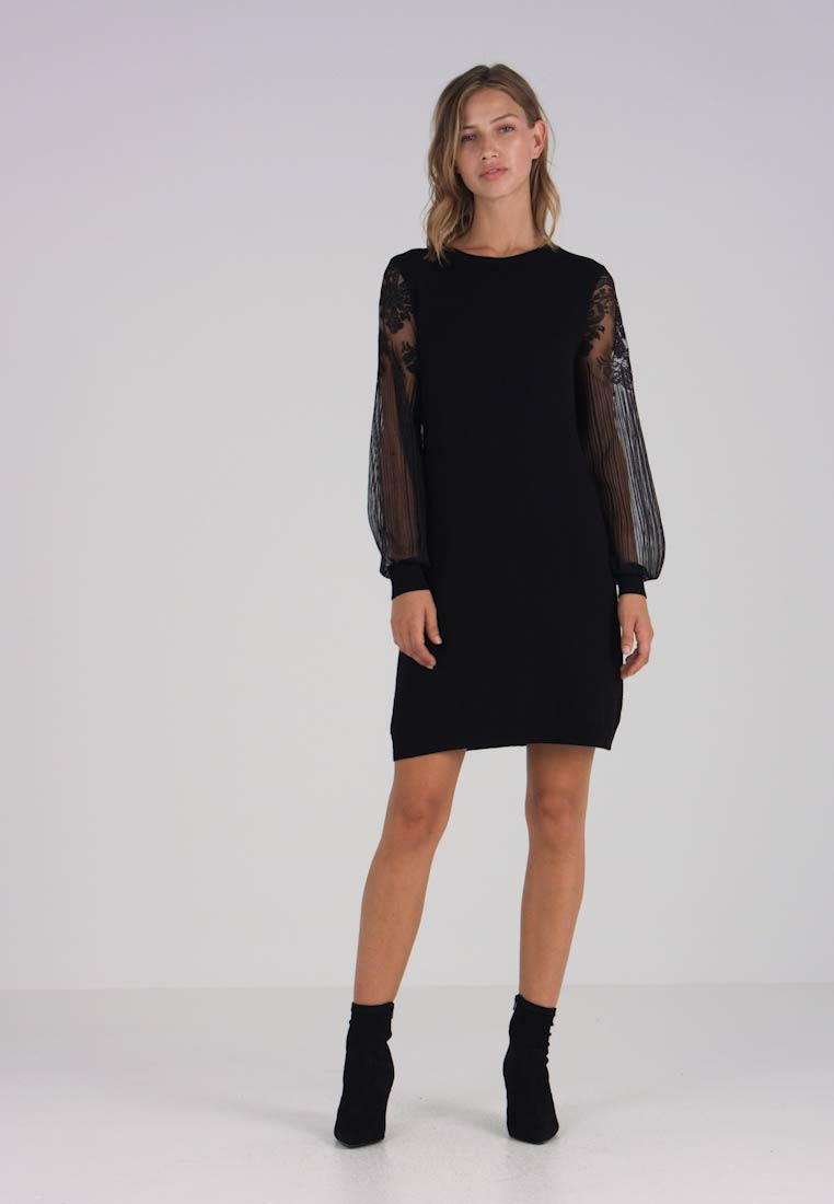 ONLY - ONLVIKTORIA DRESS - Vestido de punto - black - 1