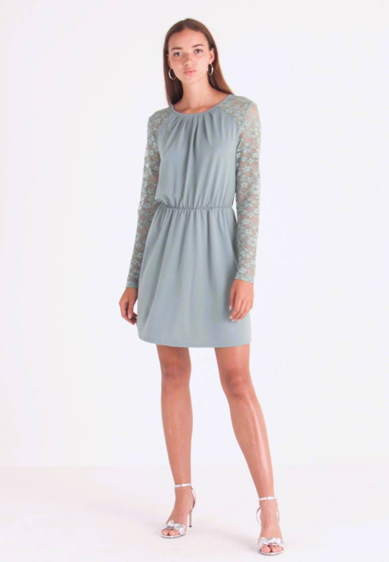 ONLY - ONLHANOVER O NECK DRESS - Jerseyjurk - chinois green - 1